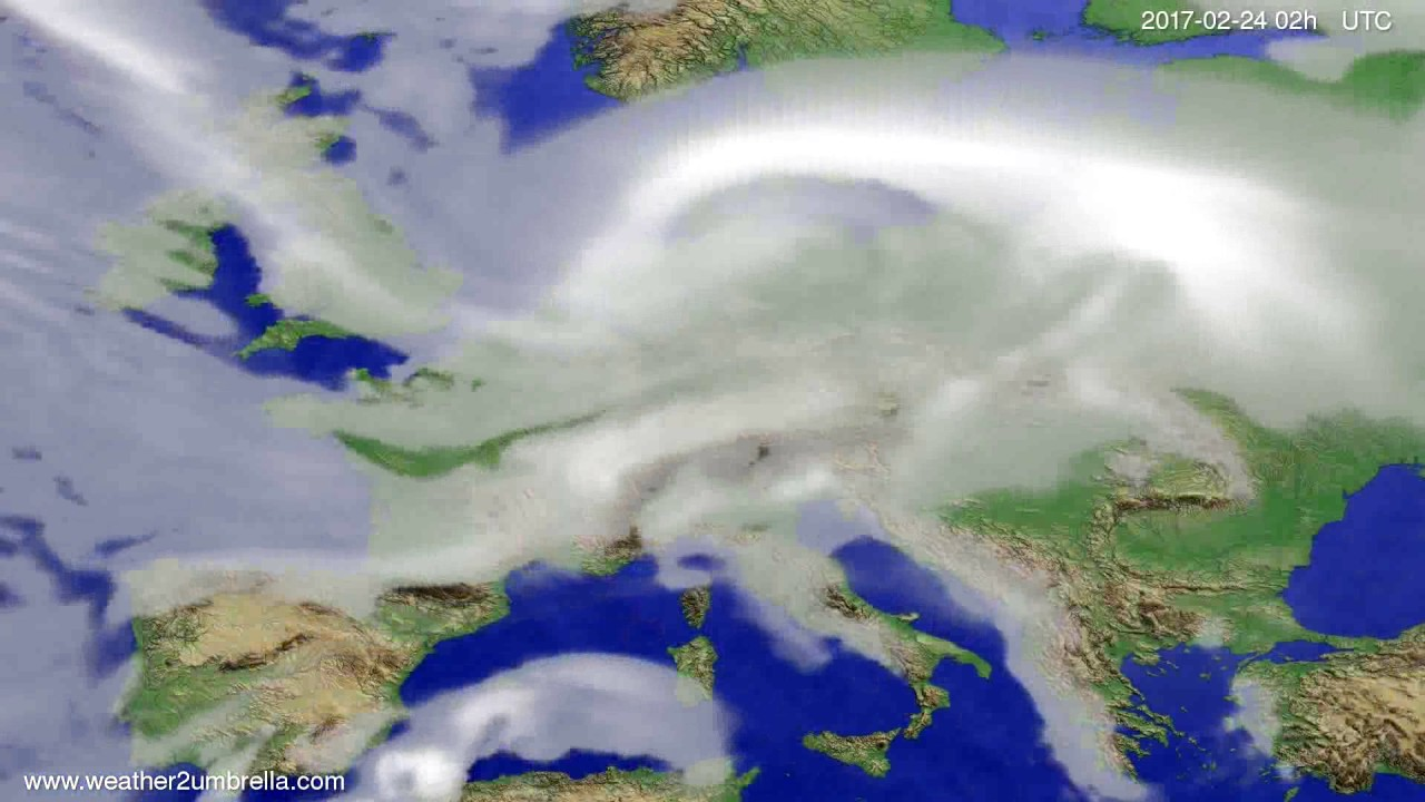 Cloud forecast Europe 2017-02-20