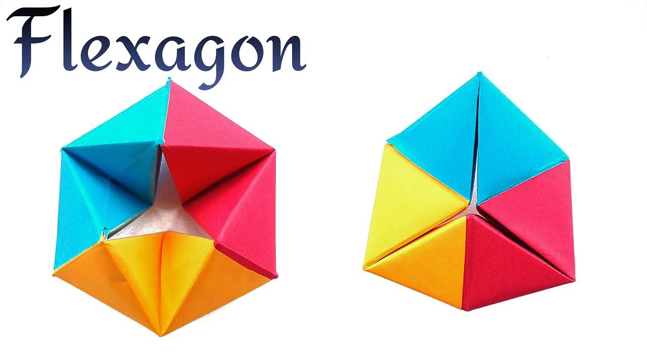 Action Fun Toy Origami Tutorial Paper Modular Rotating Tetrahedron Fexagon