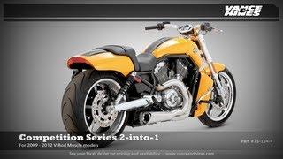 10. Competition Series 2-into-1 for 2012 Harley-Davidson V-Rod Muscle VRSCF
