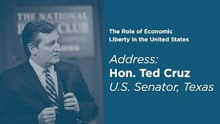 Click to play: The Role of Economic Liberty in the United States - Sen. Ted Cruz Keynote Address - Event Audio/Video