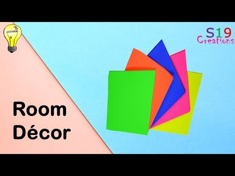 Easy room decor idea with Colour papers   Paper crafts   Diy room decor   quick and easy