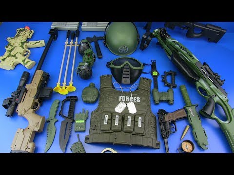 Video Military Guns Toys & equipment !!! Toys for Kids - Box of Toys !! download in MP3, 3GP, MP4, WEBM, AVI, FLV January 2017