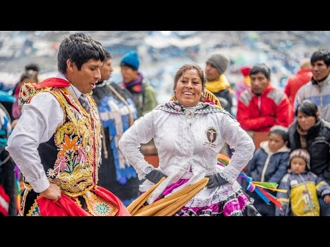 Remote Andean religious festival & snowstorm!