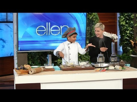 Adorable 6YearOld Indian Chef Cooks With Ellen