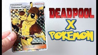 Deadpool & Pikachu Full Art Pokemon Card by Unlisted Leaf