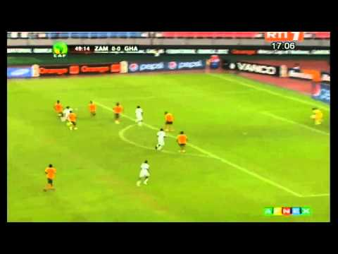 Orange Africa Cup Of Nations 2012 - Zambia vs Ghana 1-0 All Goals & Full Highlights
