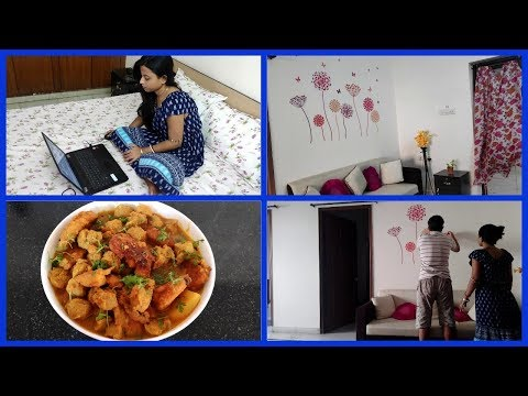 My favorite sabji  | Wall stickers under 200/- | Home decoration | Glam With Me