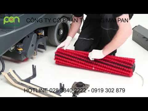 Hướng dẫn bảo trì máy chà sàn liên hợp ngồi lái BR 755/855