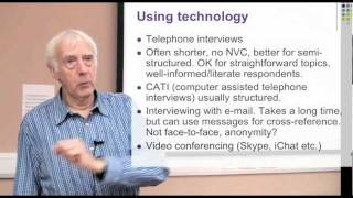 Research Interviewing Part 6: Good Practice and Technology