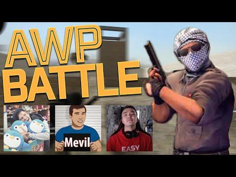 AWP BATTLE CSGO - nikstrelnikoff VS. Acool и MrMevil