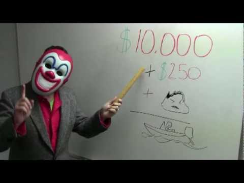Crazy Clown Good Advice About Home, Auto and Boat  Insurance