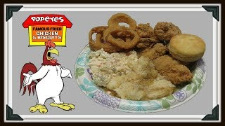 For our Saturday Silent Mukbang we Go to my New Popeyes Chicken !!! On the Menu Popeyes Mild Fried Chicken , Taters n Gravy , Coleslaw , Onion Rings , and there Mighty Fine Buttermilk Biscuits !!! Come on in , and Pull Up a Chair we Got Plenty !!! Thank You so Very Much , Fritz ...