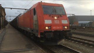 Klokken 16.22 ankommer DB BR 185 334-7 fra Flensborg på vej mod Fredericia som G44704. Klokken 16.37 ankommer DB BR...