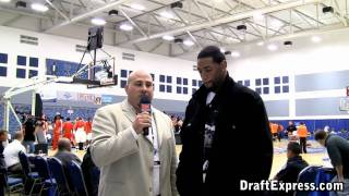 DraftExpress Exclusive - Orien Greene Interview at the 2011 D-League Showcase