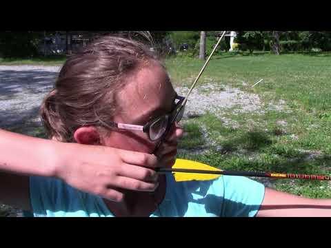 rebecca's first archery lesson