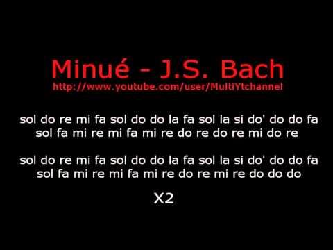 Minué – J.S.Bach –  flauta dulce notas – Partitura – Recorder – Score