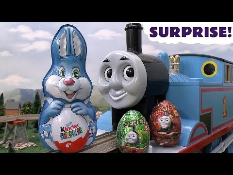 Massive Surprise Egg Hunt Thomas & Friends Ninja Turtles Thomas and Friends Eggs Easter Bunny Kids