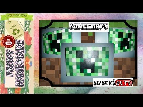 Cuadro de Minecraft (Creeper\'s) para Decorar | Manualidades