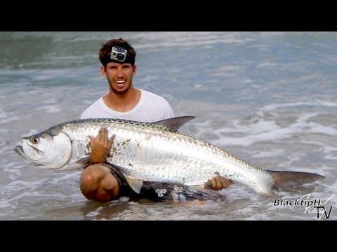 Surf Fishing Surprise – Big Tarpon!!