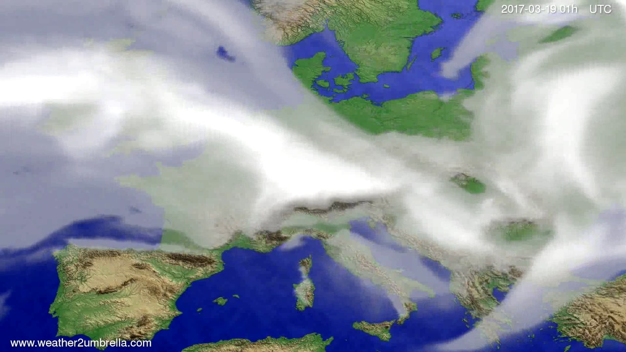 Cloud forecast Europe 2017-03-16
