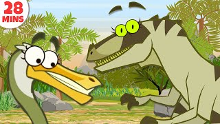 Video Dinosaurs Cartoons For Kids To Learn & Enjoy | Learn Dinosaur Facts by HooplakidzTV MP3, 3GP, MP4, WEBM, AVI, FLV September 2017