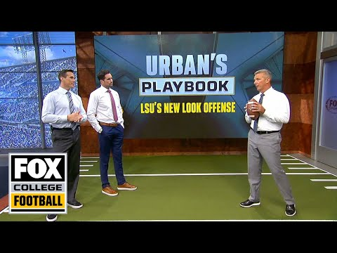Video: Urban Meyer breaks down LSU's passing offense & QB reads | URBAN'S PLAYBOOK | FOX COLLEGE FOOTBALL