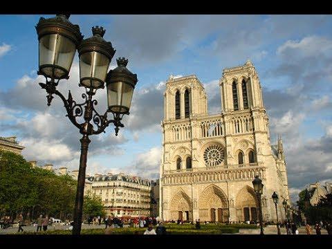 Famous Notre - Dame Cathedral, Paris, France