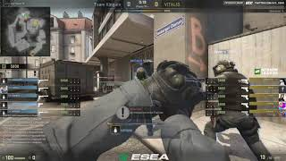 ESEA Premier Season 25 Europe || Kinguin vs VITALIS bo3 map overpas