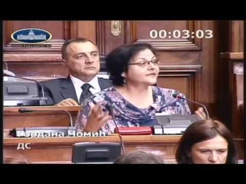 Гордана Чомић, посланичко питање министарки пољопривреде и екологије