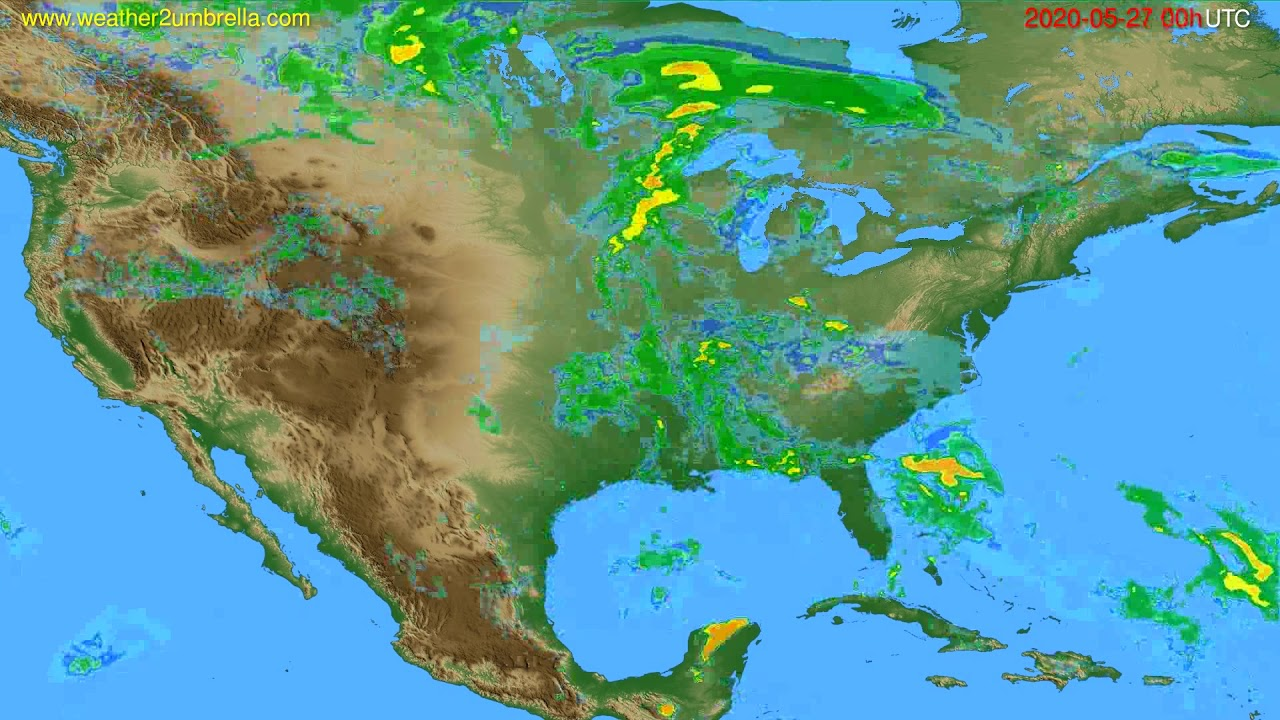 Radar forecast USA & Canada // modelrun: 12h UTC 2020-05-26