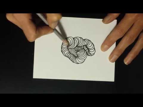 Wormholes Zentangle® Pattern Tutorial