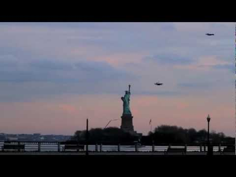 People Flying in New York City