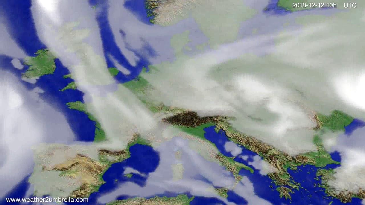 Cloud forecast Europe 2018-12-10