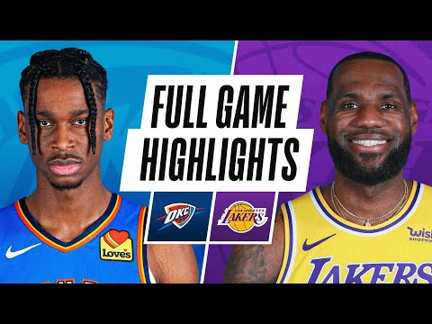 Video: THUNDER at LAKERS | FULL GAME HIGHLIGHTS | February 8, 2021