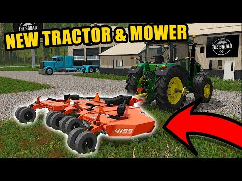 OUR NEW TRACTOR & BUSHHOG FOR ROLLIN COAL CUSTOMS | FARMING SIMULATOR 2017