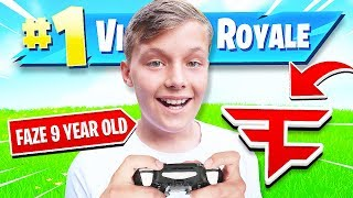 9 YEAR OLD JOINS FAZE CLAN IF HE WINS FORTNITE