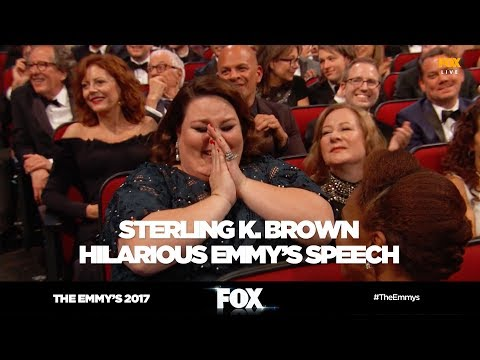 The Emmy's 2017   Sterling K. Brown hilarious speech gets cut off   FOX