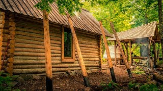 Off Grid Log Home Addition | Tiny House Renovation using Hand Tools
