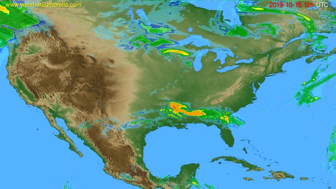 Radar forecast USA & Canada // modelrun: 00h UTC 2019-10-15