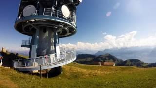 スイス発  スイスの誇る山の女王、リギ山頂にあるアンテナ!【スイス情報.com】