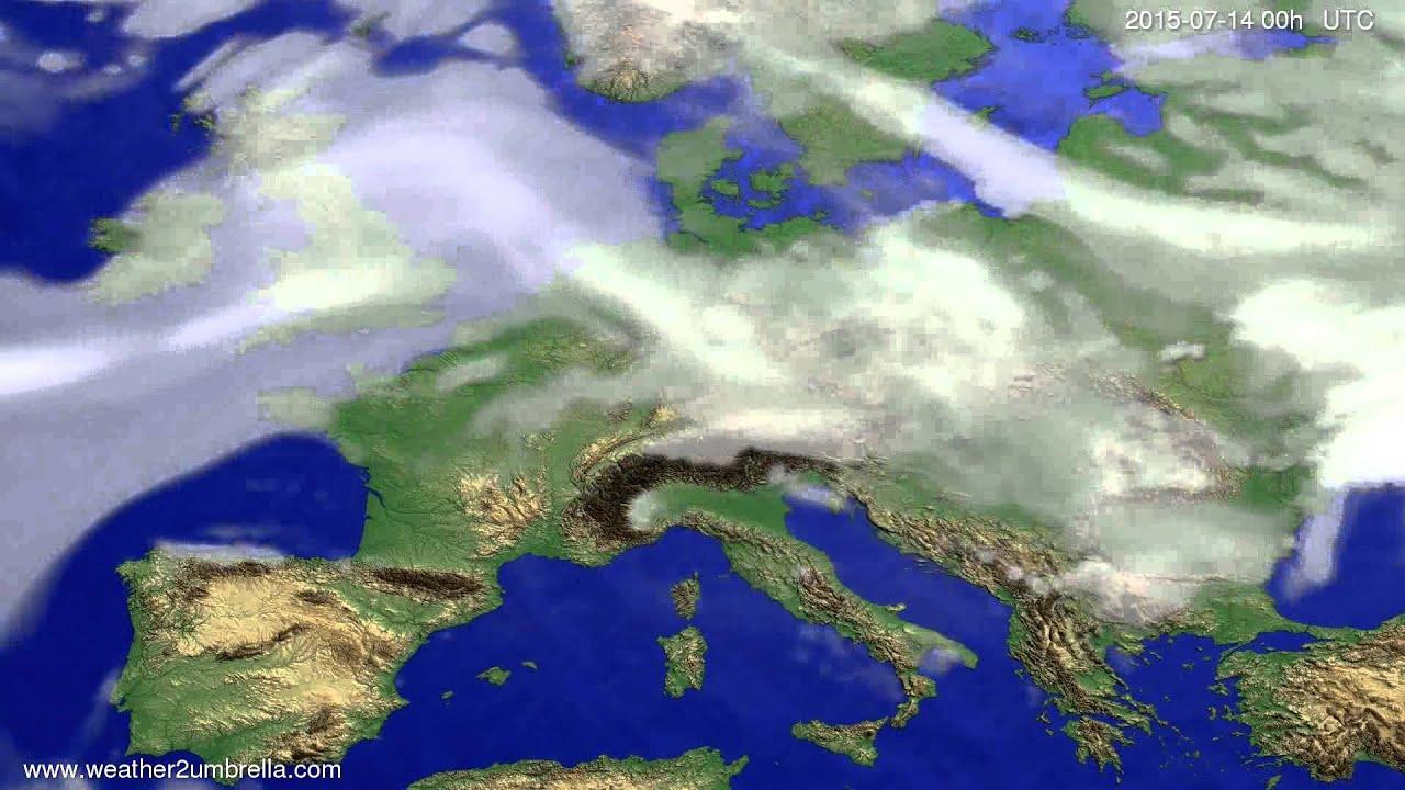 Cloud forecast Europe 2015-07-11