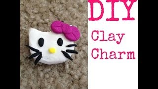 (DIY) Hello Kitty (inspired) Clay Charm (Day 4) - YouTube