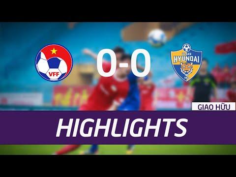 Trận hòa đầy khó khăn của U22 Việt Nam trước CLB Ulsan Hyundai