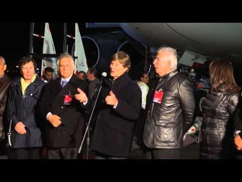 Palabras del Secretario de Turismo Enrique de la Madrid a la llegada del Air Bus A380