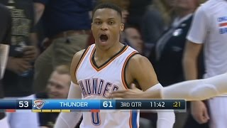 Russell Westbrook 30th Triple Double! Thunder 12 3s in a Row!