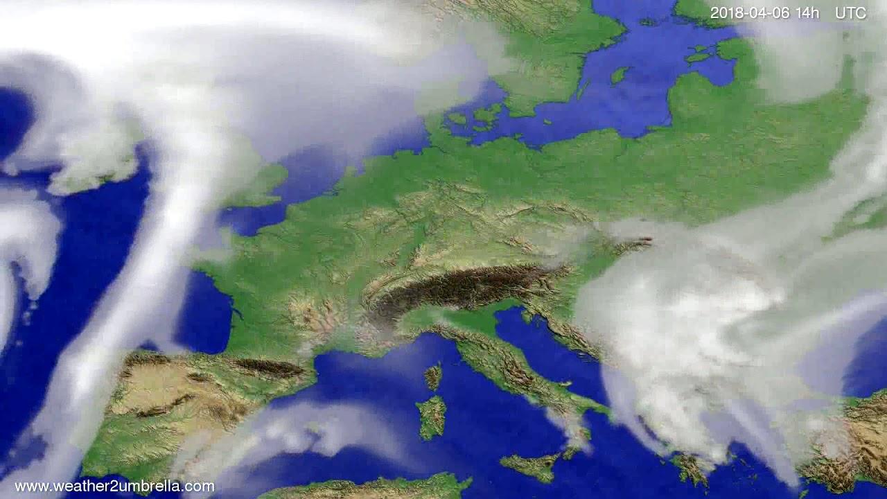 Cloud forecast Europe 2018-04-02