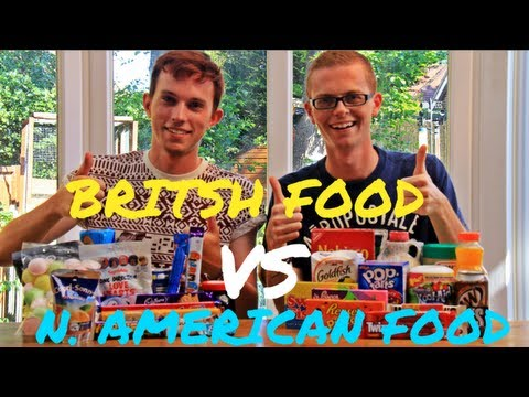 British - British vs American Food Challenge with my English friend Alistair! Inspired by Davey Wavey's food video: http://tiny.cc/prkg2w ▽PART 2▽ CLICK HERE: http://y...