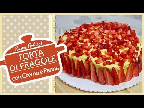 torta cuore di fragole - ricetta dell'amore vero
