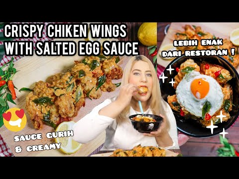 COOKING WITH TASYI : EP 04 - RESEP CRISPY CHIKEN WINGS With SALTED EGG SAUCE ( SAUS TELUR ASIN )