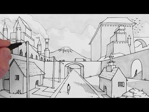 How to Draw a Background: One-Point Perspective